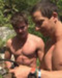 'i needed social lubricant' shirtless zac efron chats booze addiction with bear grylls